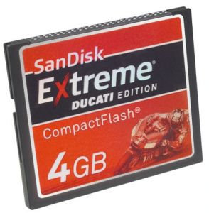 SANDISK CF 4GB EXTREME DUCATI EDITION