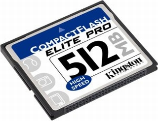 Kingston 512MB Elite Pro CompactFlash Card